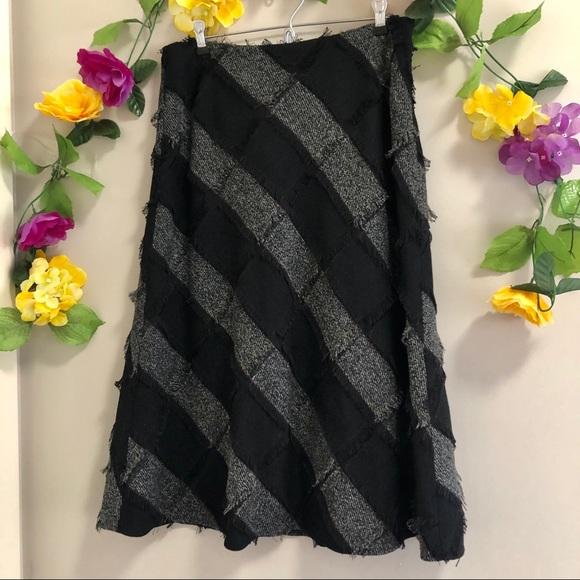 Tribal Lined Midi Skirt